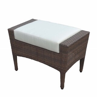 Panama Jack Key Biscayne Woven Ottoman with Cushion