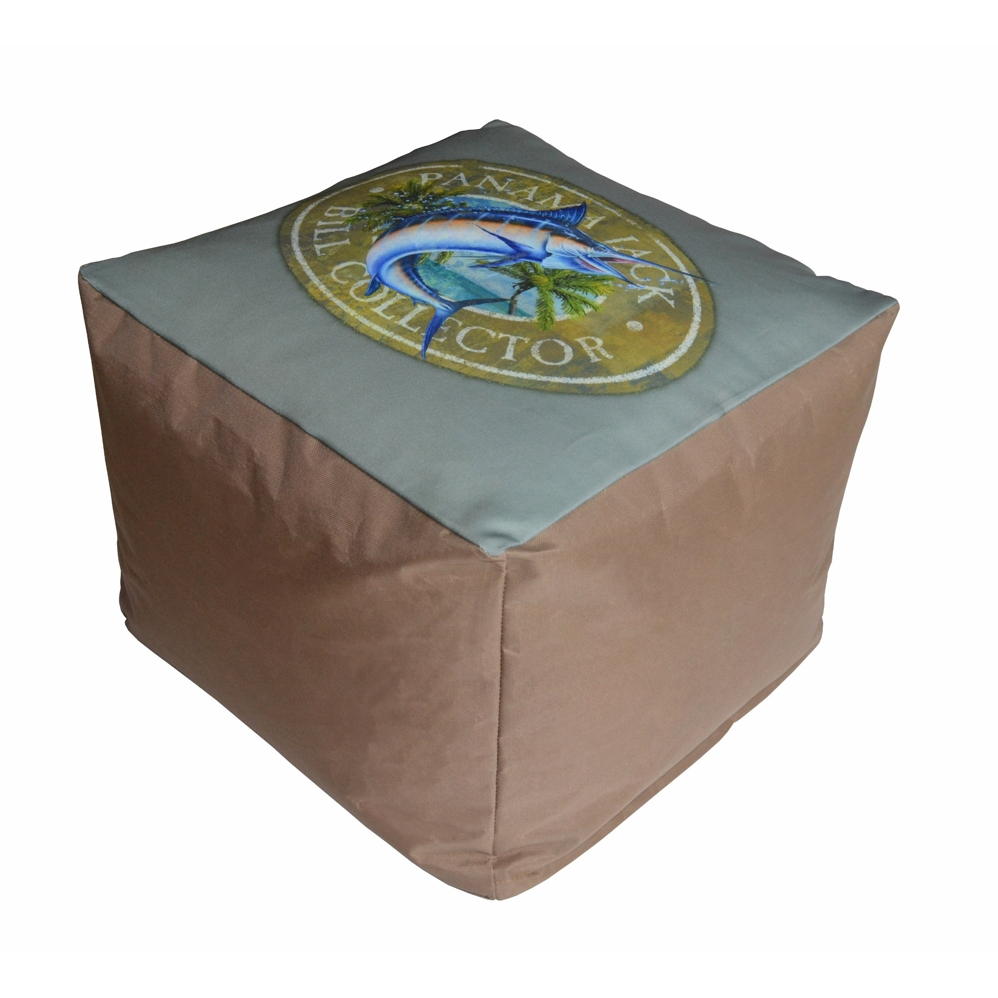 Panama Jack Bill Collector Pouf Ottoman (Bill Collector P...