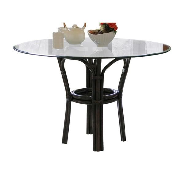 Panama Jack Sanibel Mahogany Stackable Dining Base with Glass - Brown