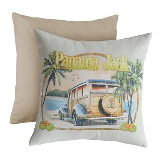 Panama Jack 'No Problems' Square Throw Pillows (Set of 2)