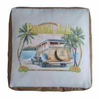 Panama Jack 'No Problems' Square Pouf Ottoman