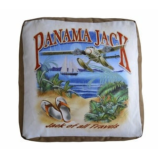 Panama Jack 'Jack of all Travels' Square Pouf Ottoman