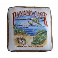 Panama Jack 'Jack of all Travels' Square Pouf Ottoman
