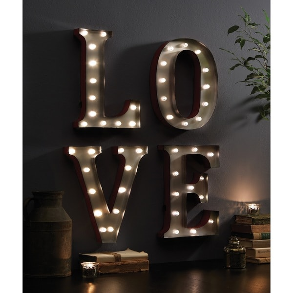 "LOVE (13.5"") Decorative LED Marquee Sign - Free Shipping Today ..."