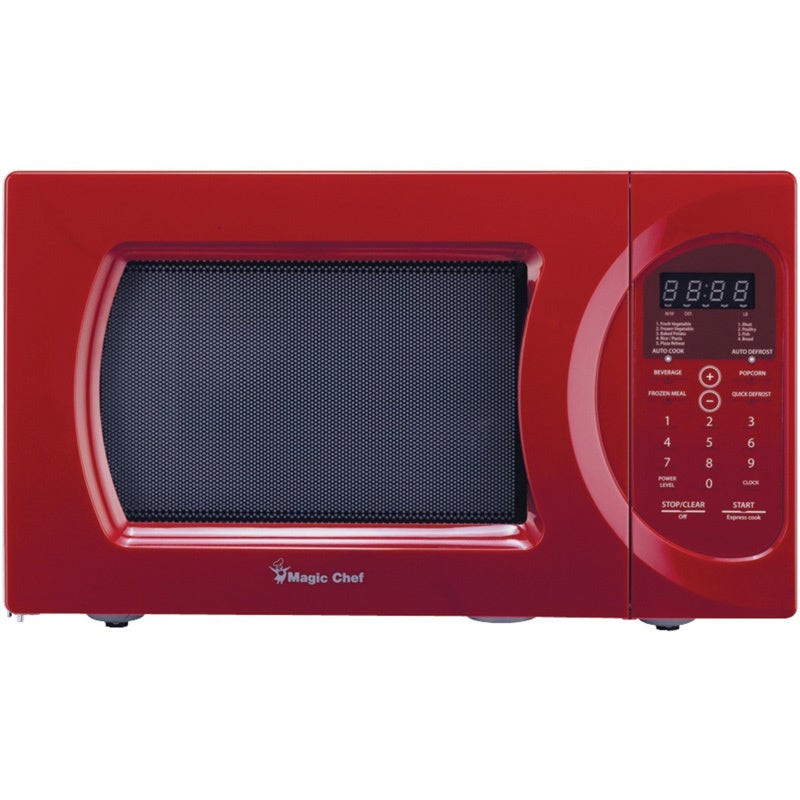 Magic Chef Red 900-watt Microwave with Digital Touch (mag...