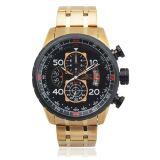 Invicta Men's 17206 Stainless Steel 'Aviator' Chronograph Quartz Watch