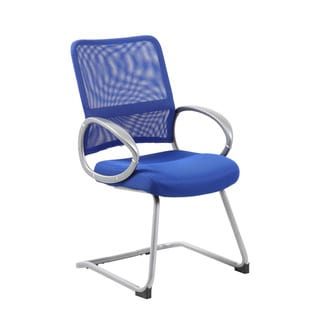 Boss Mesh Back Pewter Guest Chair
