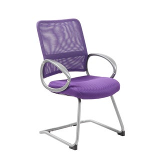 Boss Mesh Back Pewter Guest Chair (Option: Purple)