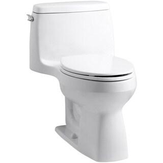 Kohler Santa Rosa White Comfort Height 1-piece 1.28 GPF Compact Elongated Toilet