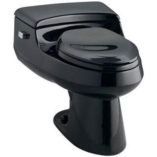 Kohler San Raphael Black Comfort Height 1-piece 1 GPF High Efficiency Elongated Toilet