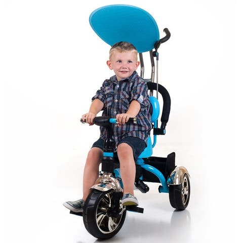 Tricycle Stroller Bike, 3-1 Stroller with Removable Canopy & Stroller Organizer by Lil' Rider