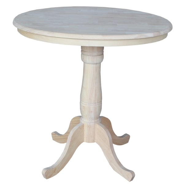shop international concepts unfinished 36 inch round counter height