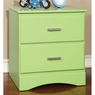 Furniture of America Colorpop 2-Drawer Youth Nightstand (Option: Keylime Green)