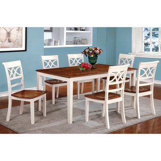Link to Furniture of America Quat Country Solid Wood 7-piece Dining Set Similar Items in Dining Room & Bar Furniture
