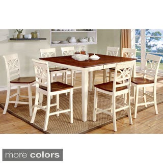 Furniture of America Betsy Joan Duo-Tone 9-Piece Counter Height Table Set - Thumbnail 0