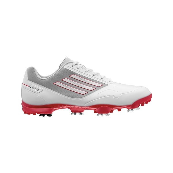 Adidas Men's Adizero One Running White/Black/Red Golf Shoes