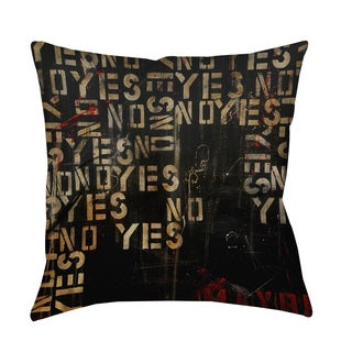 Yes No Maybe Throw Pillow or Floor Pillow