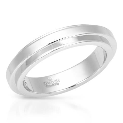 6902be869 Shop Pre-Owned Gucci Ring 18k White Gold - Free Shipping Today - Overstock  - 9340627