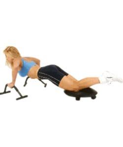 Black Ultimate Fitness Object Ergonomic Foam/Steel Workout Accessory - Thumbnail 2