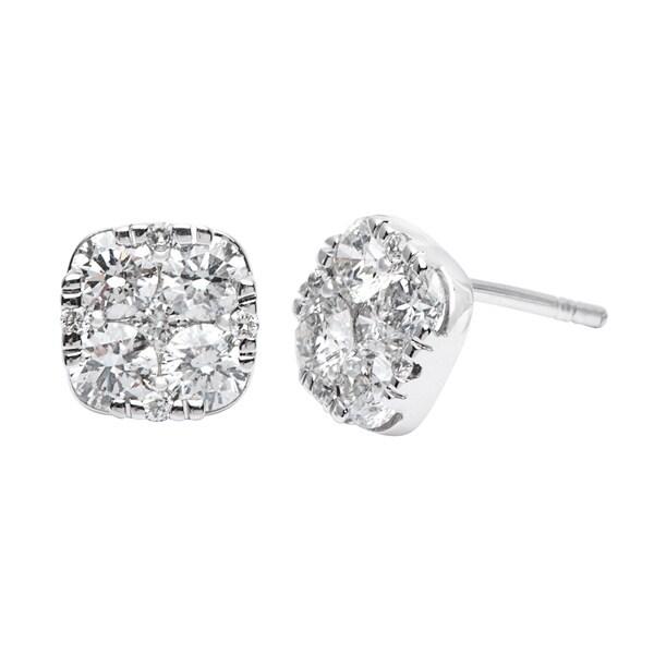 6d96e693f Shop 14k White Gold 1 3/4ct TDW Diamond Stud Earrings (H-J, SI2-I1 ...