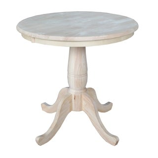 Attrayant International Concepts Unfinished 30 Inch Round Pedestal Table