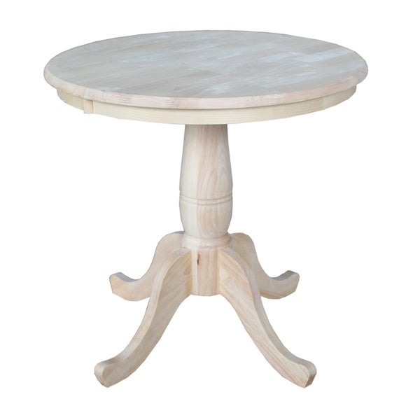 Attractive International Concepts Unfinished 30-inch Round Pedestal Table  SF22