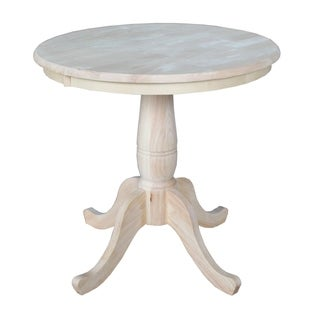 Unfinished 30 Inch Round Pedestal Table