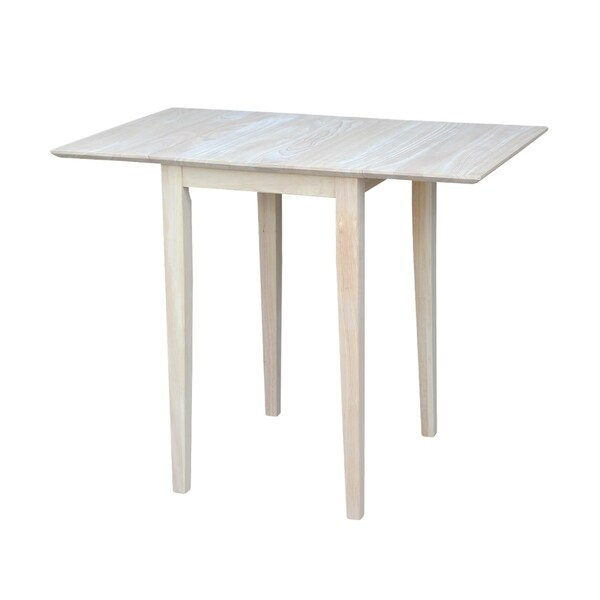International concepts small unfinished rectangular drop for Rectangular drop leaf dining table