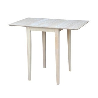 Small Unfinished Rectangular Drop-leaf Shaker-style Dining Table
