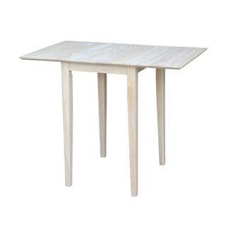 International Concepts Unfinished Wood Rectangular Drop-leaf Shaker-style Small Dining Table
