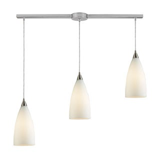 Vesta 3-light White Satin Nickel Pendant