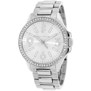 Juicy Couture Women's 1900958 Jetsetter Silvertone Bracelet Watch