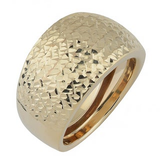 Fremada 10k Yellow Gold Diamond-cut Bold Ring