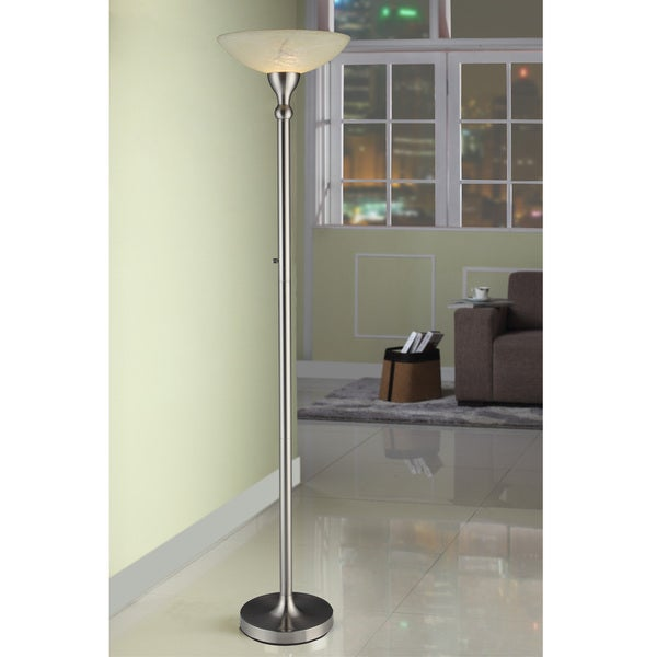 Artiva usa 71 inch compact fluorescent torchiere floor lamp with artiva usa 71 inch compact fluorescent torchiere floor lamp with hand painted alabaster glass aloadofball Image collections