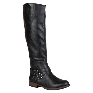 Journee Collection Women's 'April' Ankle Buckle Knee-high Riding Boot (More options available)