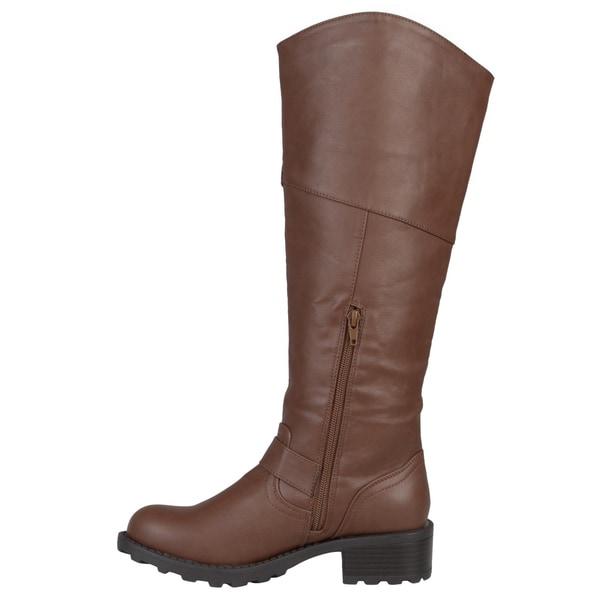 Journee Collection Comfort Womens Kerin Regular Wide Calf Extra Wide Calf Riding Boot