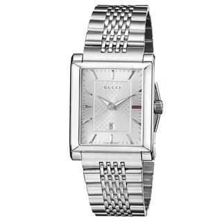 Gucci Men's YA138403 'Timeless' Silver Dial Stainless Steel Bracelet Quartz Watch|https://ak1.ostkcdn.com/images/products/9346487/P16540014.jpg?_ostk_perf_=percv&impolicy=medium