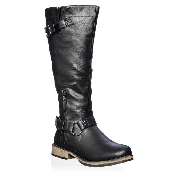 Nature Breeze Women's 'Lauren-03' Knee-high Riding Boots