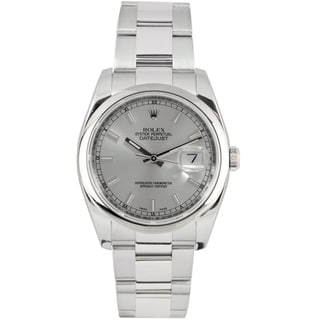 Pre-Owned Rolex Men's Datejust Stainless Steel Oyster Band Silver Dial Watch