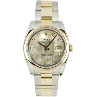 Pre-Owned Rolex Men's Datejust Two-tone Oyster Band Mother of Pearl Dial Watch|https://ak1.ostkcdn.com/images/products/9346515/P16540042.jpg?impolicy=medium
