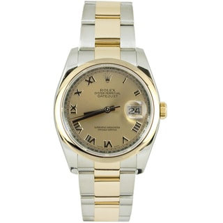 Pre-Owned Rolex Men's Datejust Two-tone Oyster Band Champagne Dial Watch