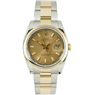 Pre-Owned Rolex Men's Datejust Two-tone Oyster Bracelet Champagne Dial Watch