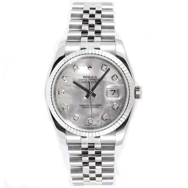 Shop Pre Owned Rolex Men S Datejust Jubilee Band Mother Of