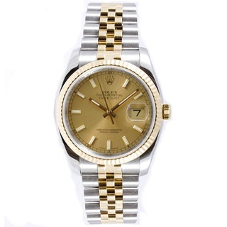 Pre-Owned Rolex Men's Datejust Two-tone Jubilee Champagne Dial Watch