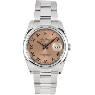 Pre-Owned Rolex Men's Datejust Stainless Steel Oyster Salmon Dial Watch