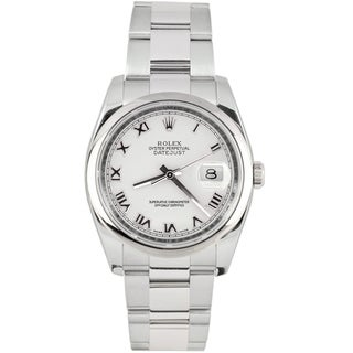 Pre-Owned Rolex Men's Datejust Stainless Steel Oyster White Dial Automatic Watch