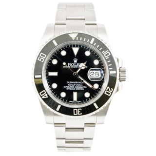 Pre-Owned Rolex Men's Submariner Model 116610 40mm Stainless Steel Black Dial Watch
