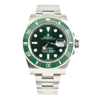 Pre-Owned Rolex Men's Submariner Model 116610 40mm Stainless Steel Green Dial Watch
