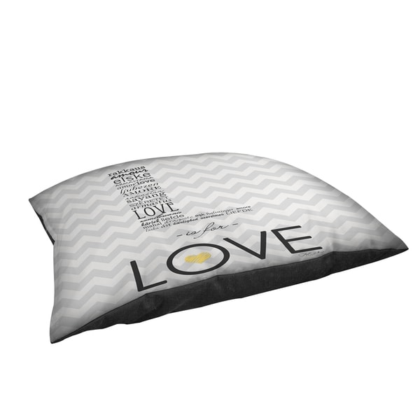 L is for Love Large Rectangle Pet Bed