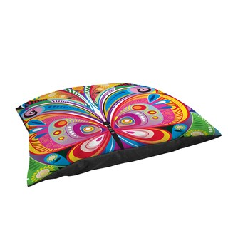 Pattern Butterfly Large Rectangle Pet Bed